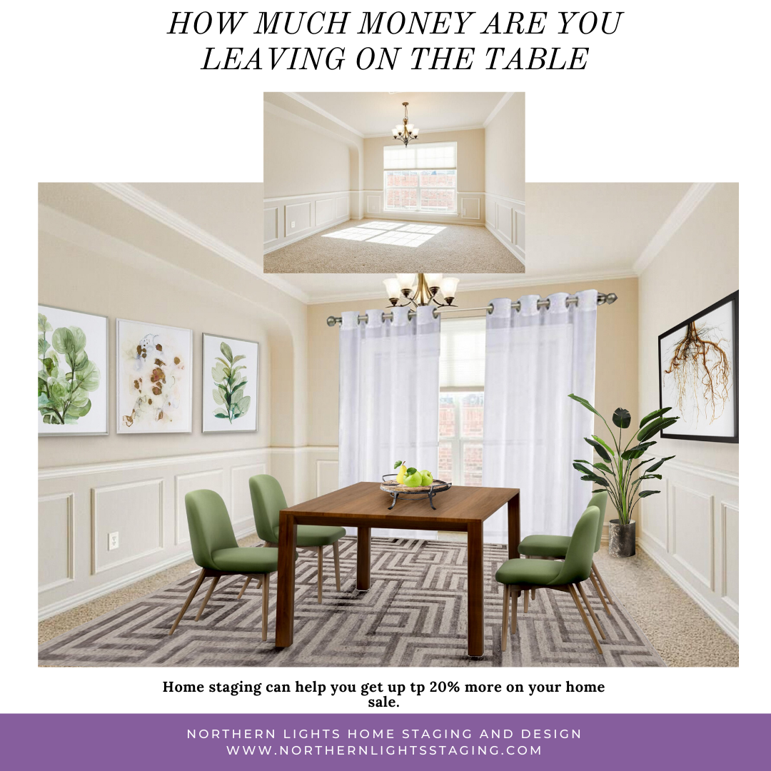 How much money are you leaving on the table without home staging.