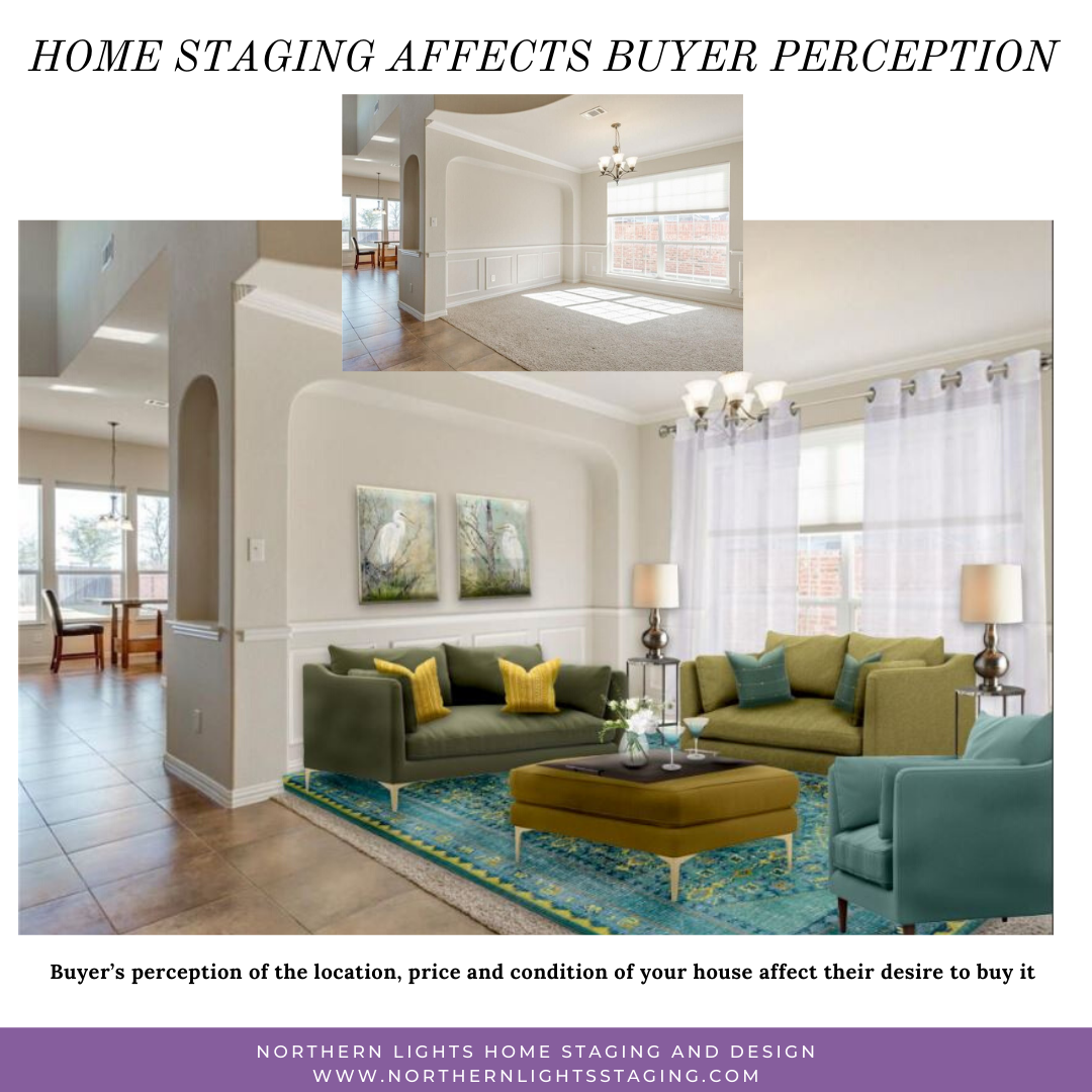 Home staging affects buyer perception
