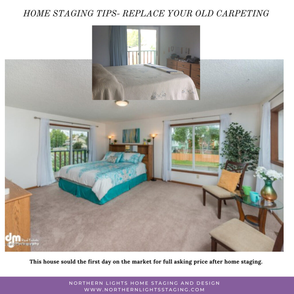 Home staging Tip- update old carpeting