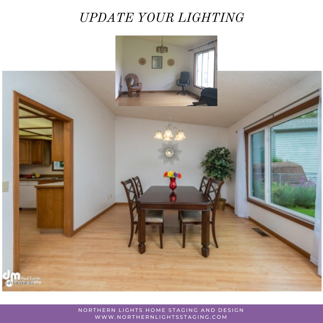 Home staging Tip- update outdated lighting