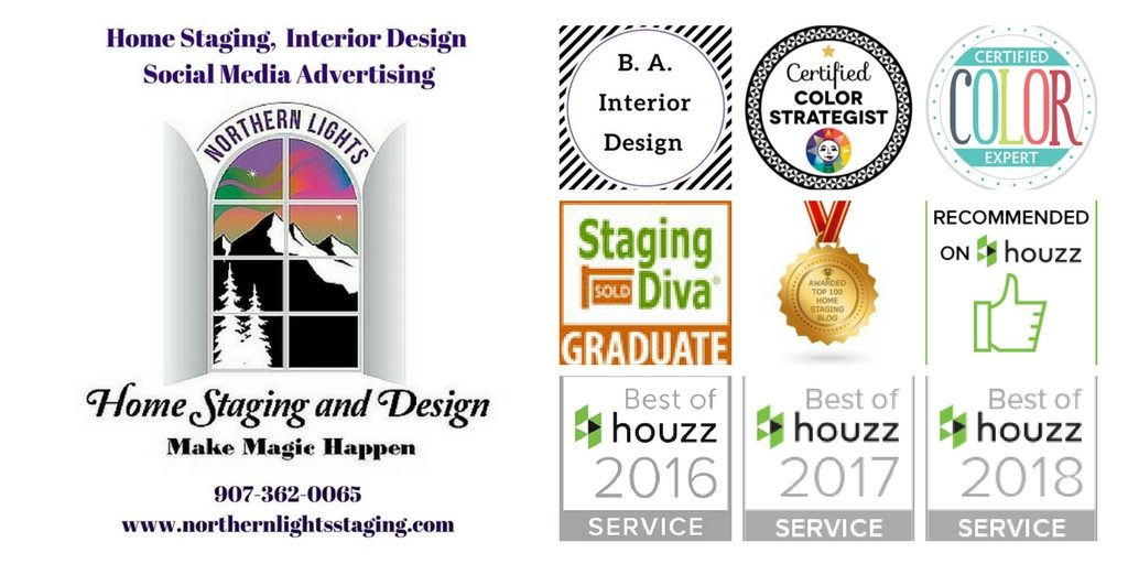 Northern Lights Home Staging and Design awards and credentials