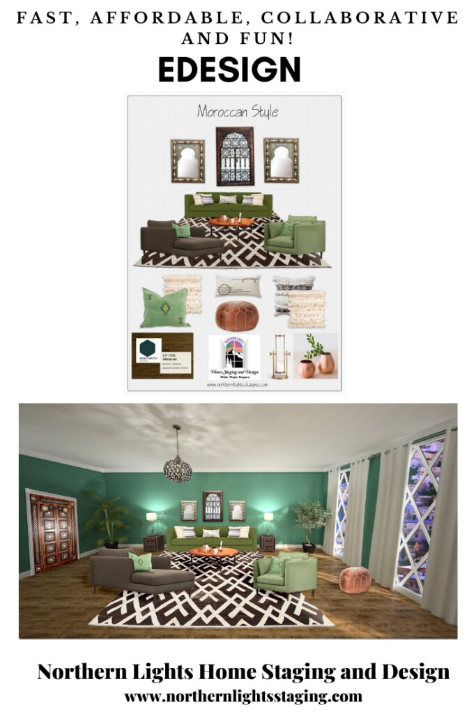 How can I work with an Interior Designer on my budget? Edesign is fast, affordable, collaborative and fun. #edesign #onlinedesign #interiordesign #homedecor