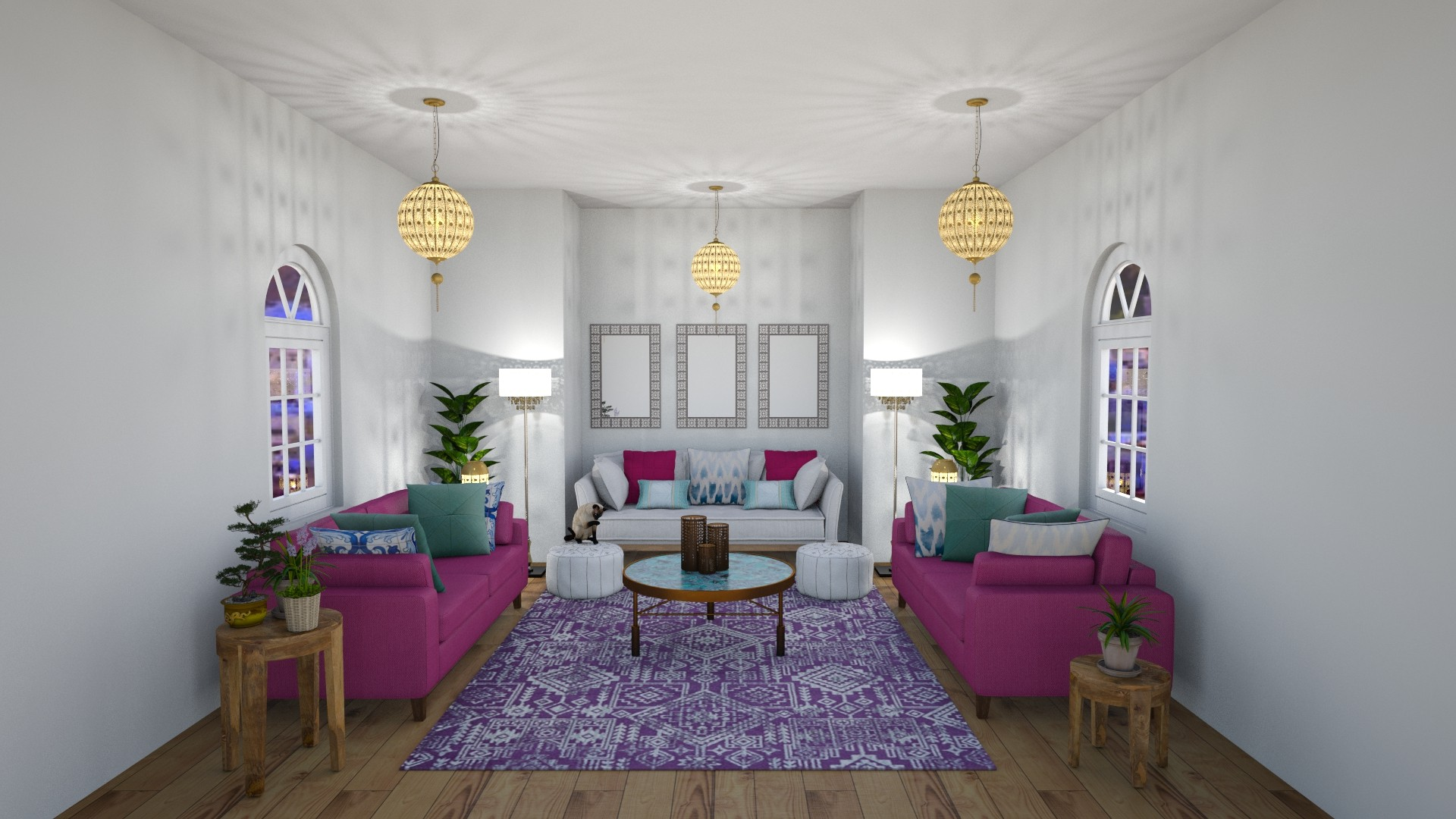 Bohemian Style with Moroccan influences.