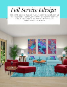 Full Service Edesign package by Northern Lights Home Staging and Design.