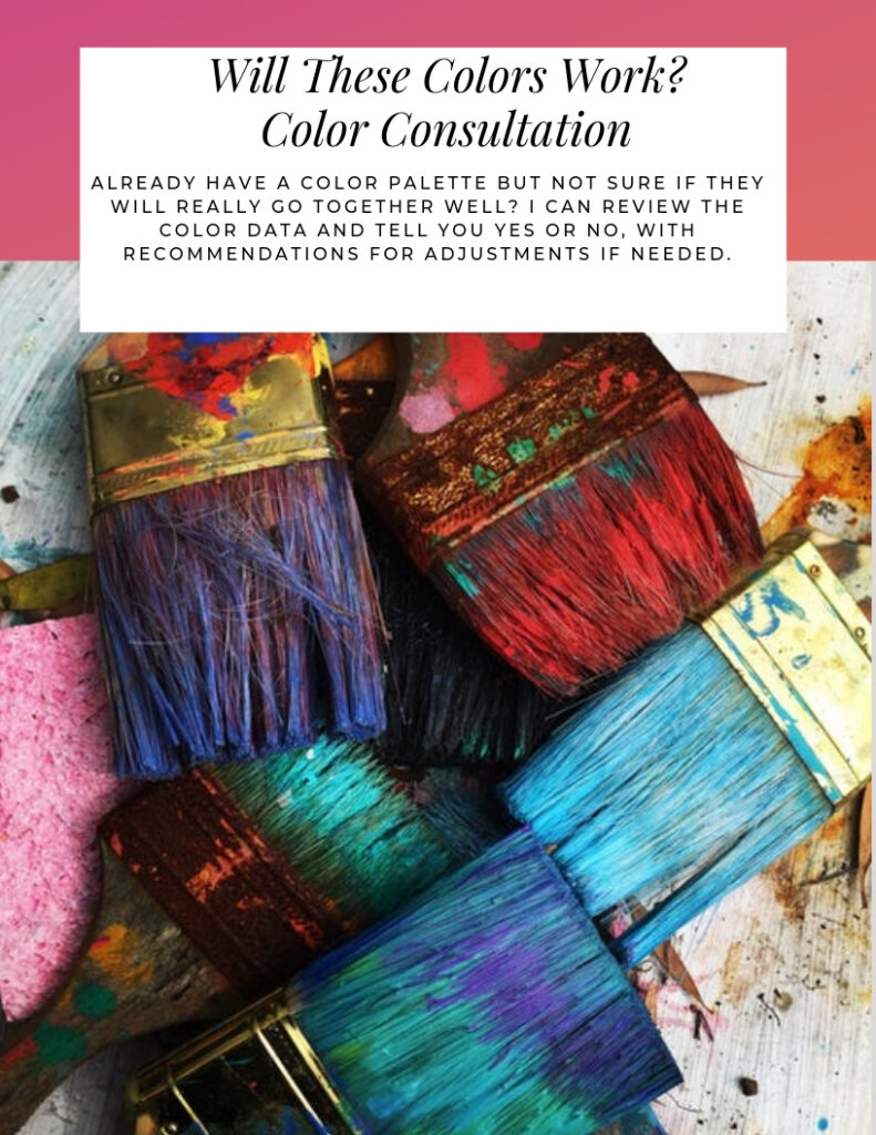 Will these colors work? Color Consultation uses color data to tell you if the specific color palette you have selected will work harmoniously together and gives recommendations for adjustments if needed. #certifiedcolorstrategist #colorconsultation #pickingpaintcolors #paintcolors #interiorpaint #exteriorpaint #colorfulhome