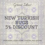 Authentic Turkish rugs are a beautiful focal point for any global style Interior Design including Turkish, Bohemian, Modern and Vintage styles. And, they are great for eco-friendly design since most are made from wool and other natural materials!Get 5% off any of the beautiful rugs at Kilim.com with code NLS2019 at check out. #turkishrugs #rugs #globaldesign #bohemian #turkish #edesign #interiordesign #homedecor
