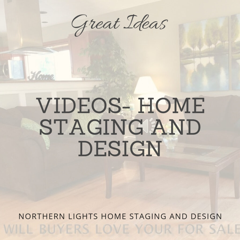 Videos sharing great ideas, information or examples on home staging, Interior Design, color and social media advertising by Northern Lights Home Staging and Design. Learn more and see related blog articles at www.northernlightsstaging.com #video #homestaging #interiordesign