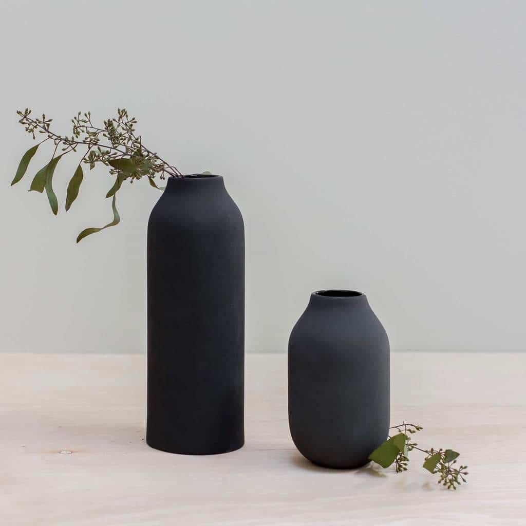 BLACK ENGOBE VASE SET- Photo from The Citizenry #affiliate