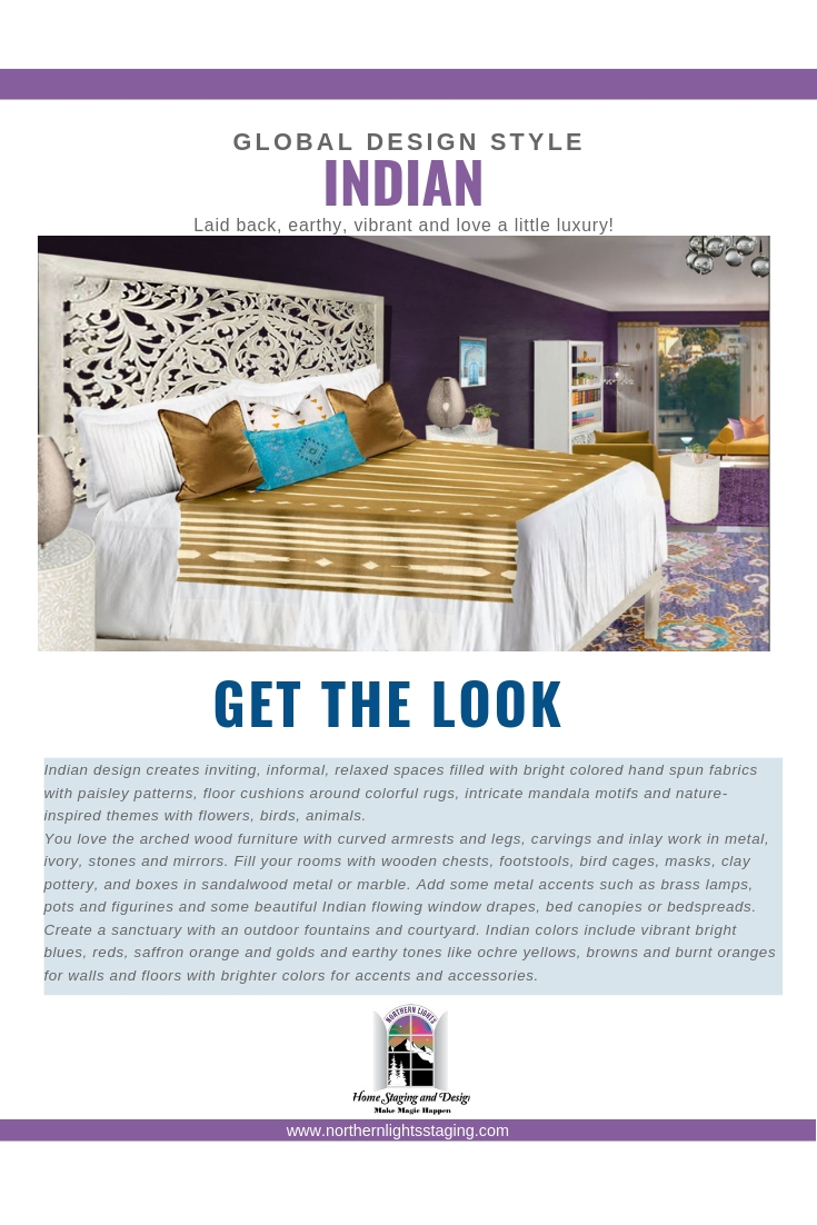 Get the Look-Indian Style Interior Design. Beautiful bedroom design incorporates the essence of Indian style design which is laid back, earthy, vibrant and luxurious. Love purple? This design uses Pantone's color Love Symbol #2, celebrating Prince. #globalstyle #interiordesign #mexicanstyle #bohemian #globaldecor #furniture #livingroom #eco-friendly #interiordecorating #edesign #onlinedesign #homedecor #moderndesign #interiordecorating #edesign #onlinedesign #homedecor #moderndesign #bedroom #lovesymbol#2 #prince #purple #luxuriousbedroom
