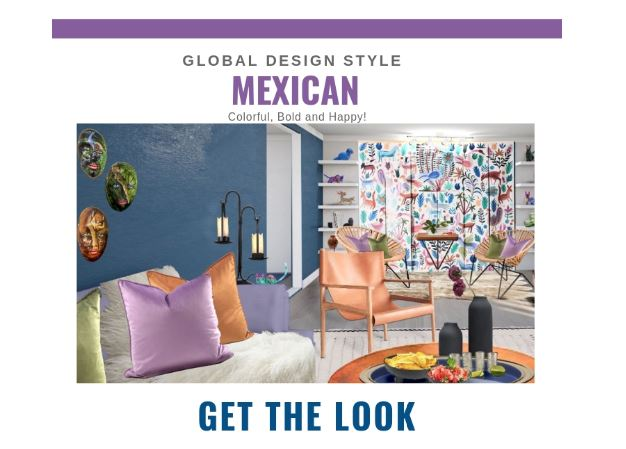 Global Design Style-Mexican. Get the Look. Eco-friendly and sustainable Living room design by Northern Lights Home Staging and Design #globalstyle #interiordesign #mexicanstyle #bohemian #globaldecor #furniture #livingroom #eco-friendly #sustainabledesign #interiordecorating #edesign #onlinedesign #homedecor #moderndesign