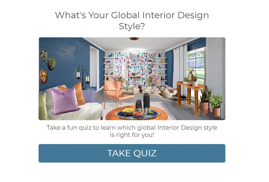 What's Your Global Design Style? Take this fun quiz to find out. Northern Lights Home Staging and Design #globalstyle #designstyle #interiordesign #onlinedesign #stylequiz #interiordesignquiz #interiorstylequiz