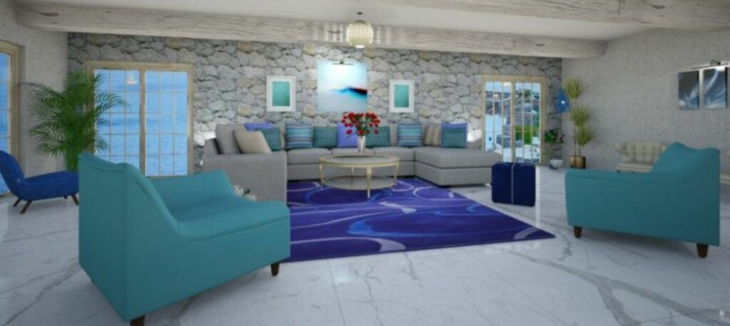 Greek Style Living Room