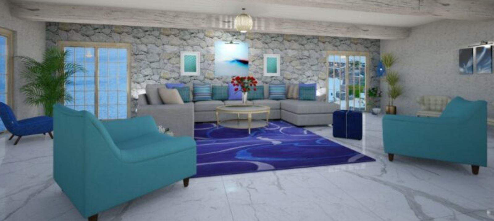 Greek Style Living Room