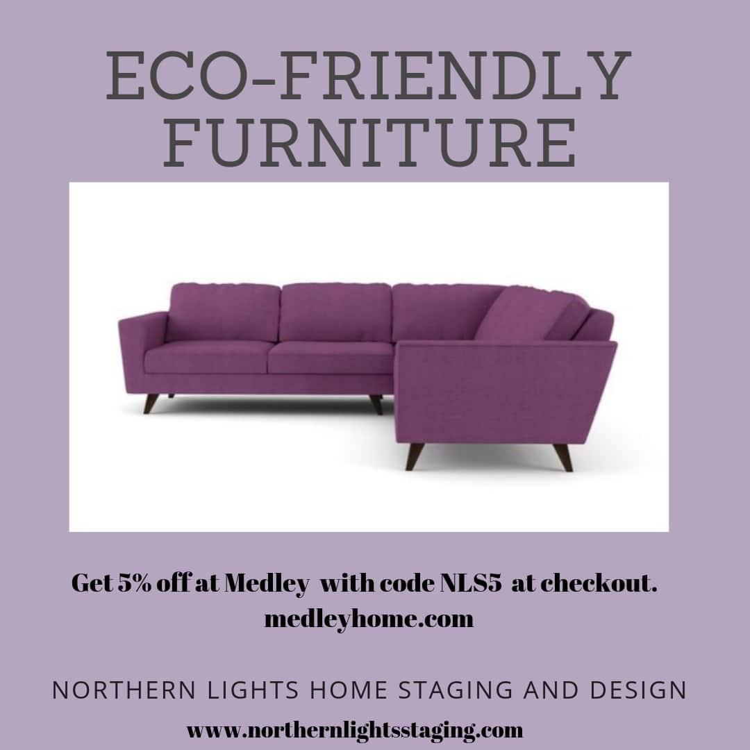 Get a 5% discount on all the eco-friendly, sustainable furniture at Medley with the code NLS5 at check out. #eco-friendly #sustainabledesign #interiordesign #homedecor #furniture #livingroom