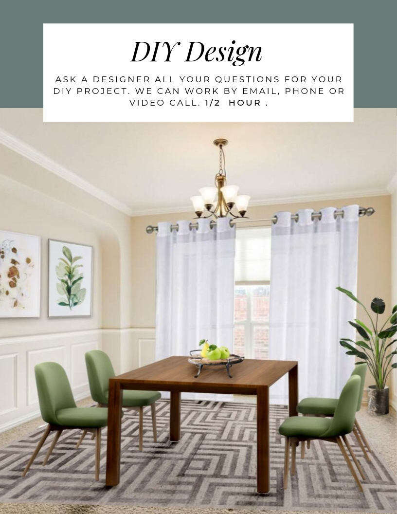 DIY special. Pick my brain, ask all your questions for your DIY home design project for up to 30 minutes by phone, email or video call. Northern Lights Home Staging and Design. #designer #interiordesign #designconsultation #designeroncall #designquestions