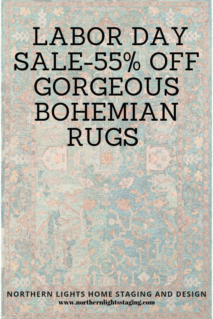 Labor Day Sale 55% off. Get the look of Bohemian and global style with these beautiful rugs. 55% off and free shipping through Labor Day. #rugs #sale #bohemian #boho #globalstyle #moroccan #turkish #livingroom #homedecor #blackandwhite #virtualdesign #interiordesign #interiordecorating #affiliate