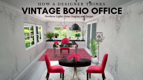Vintage Boho Office- How a Designer Thinks