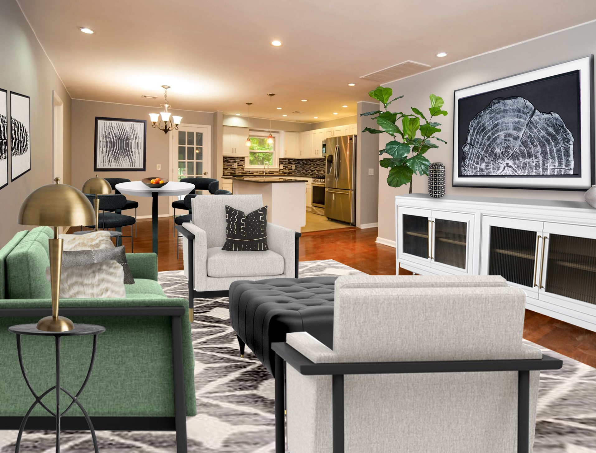 Virtual home staging by Northern Lights Home Staging and Design #homestaging #virtualhomestaging #virtualstaging #electronicstaging #edesign #onlinedesign #realestatemarketing