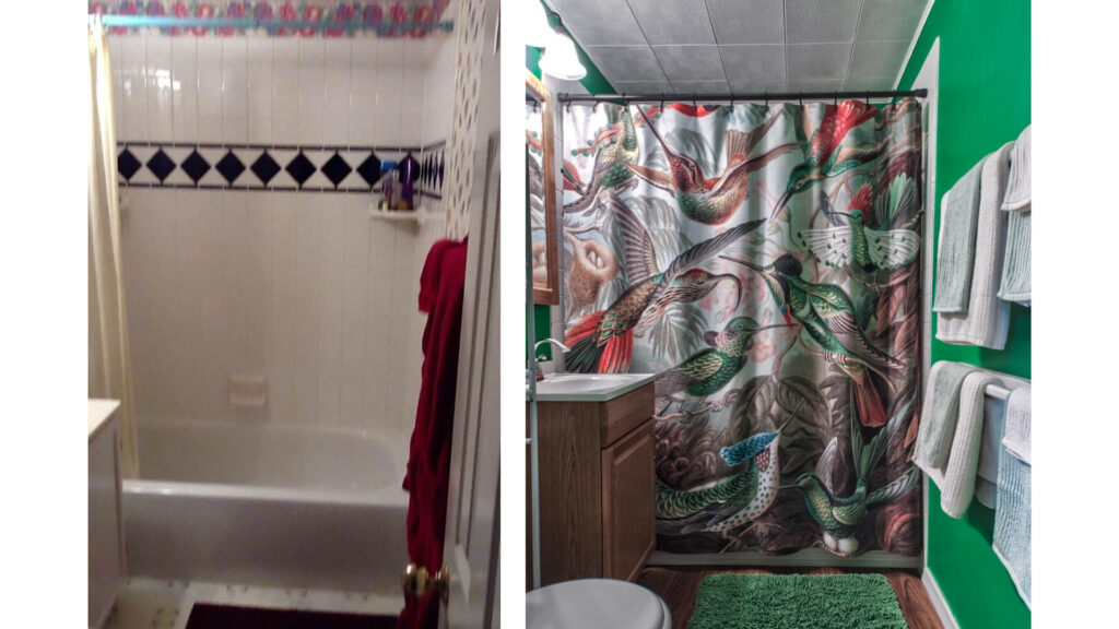 Bathroom before and after home staging and design