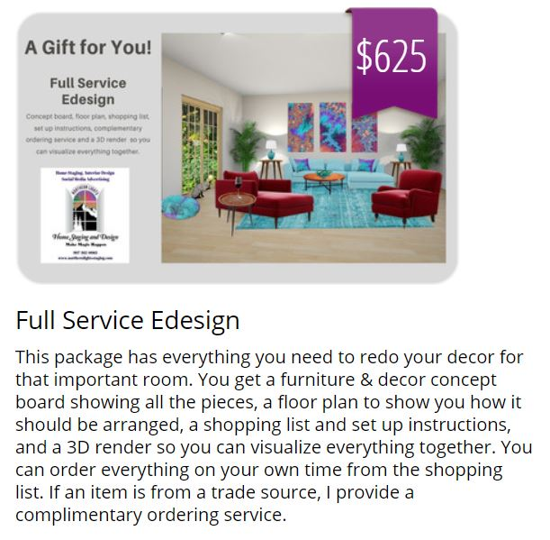 Get a gift card for an Interior Design , Color or Home Staging Consultation as a gift for that special someone or give yourself a present! Send me your pictures and we can talk by phone, we can do a video call or walk me through your house using Facetime. Ask me anything. https://www.giftfly.com/shop/northern-lights-home-staging-and-design