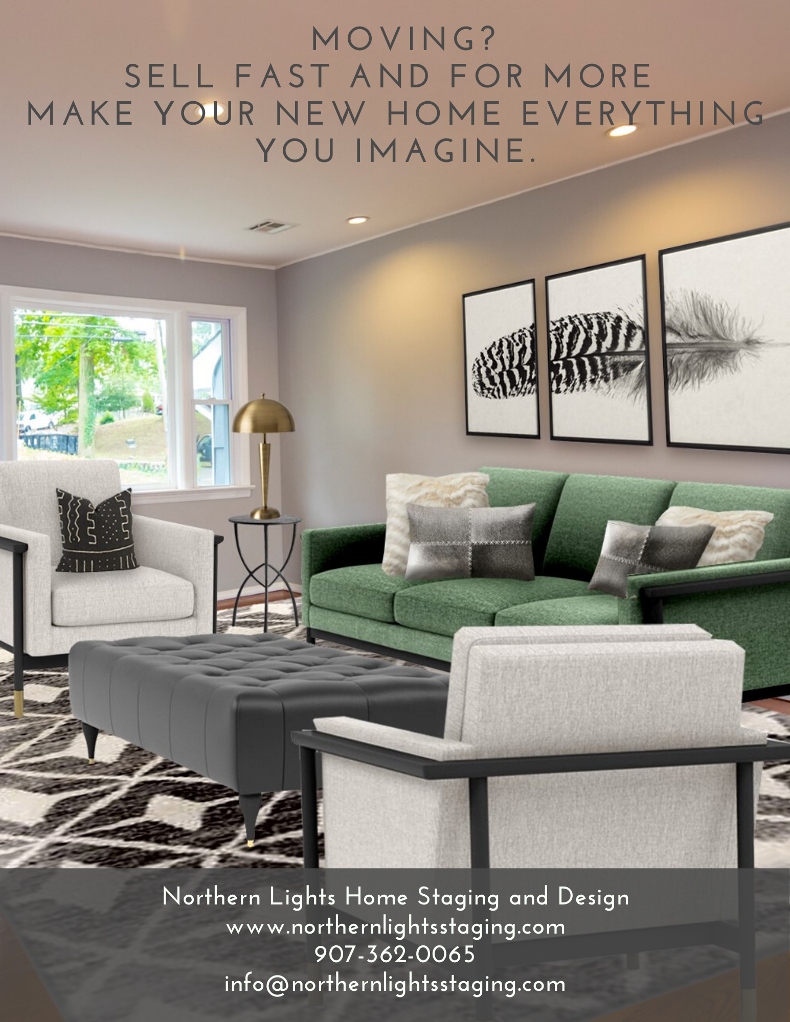 Northern Lights Home Staging and Design home staging, color and design services for home sellers and home buyers.