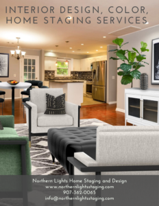 Interior Design, Color and Home Staging Services. Brochure of Northern Lights Home Staging and Design