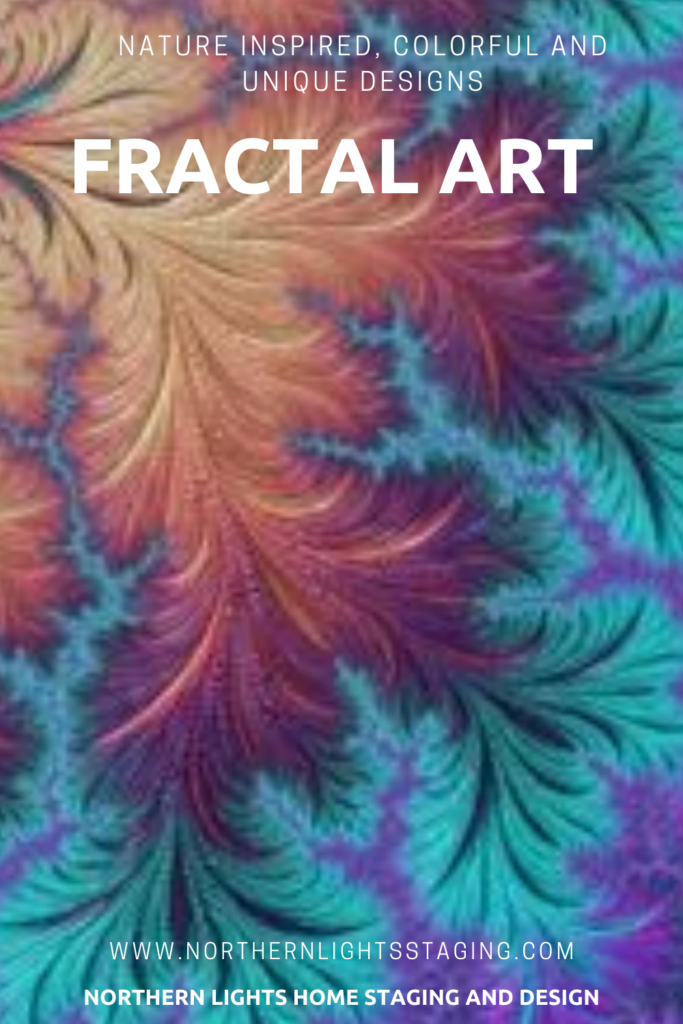 Fractal Art Gallery of Designs by Northern Lights Home Staging and Design. Designs available in art prints and home decor at SSP Studio and Gallery and Society6