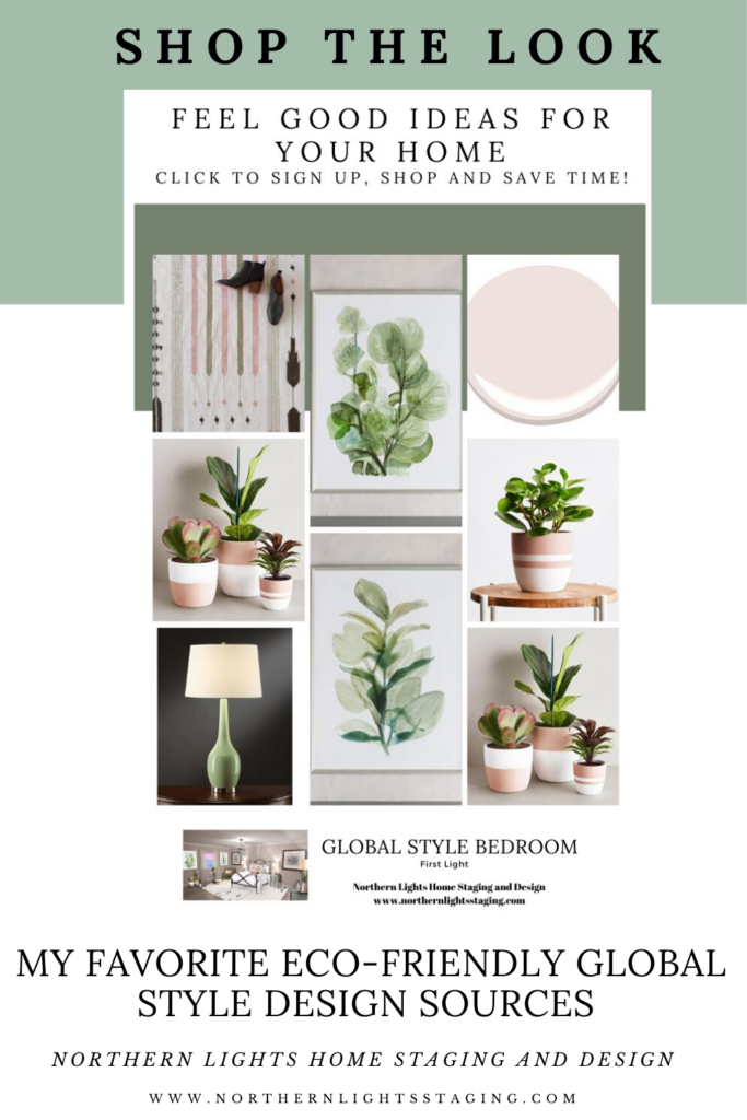 Shop the Look-Eco-Friendly Global Style Interior Designs by Northern Lights Home Staging and Design