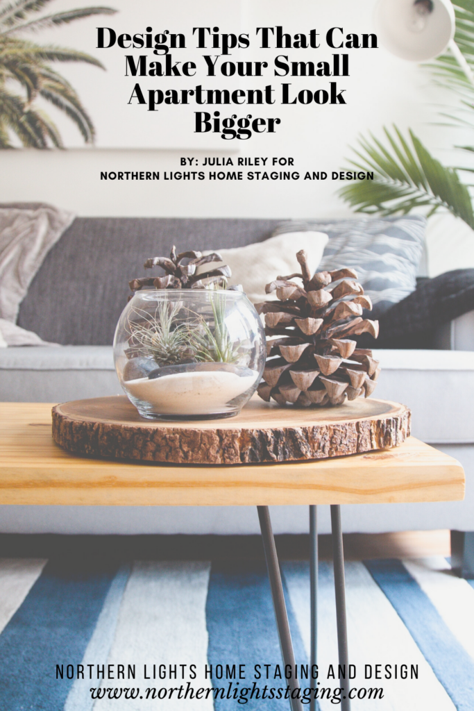 Design Tips That Can Make Your Small Apartment Look Bigger by Julia Riley for Northern Lights Home Staging and Design. Photo from Unsplash