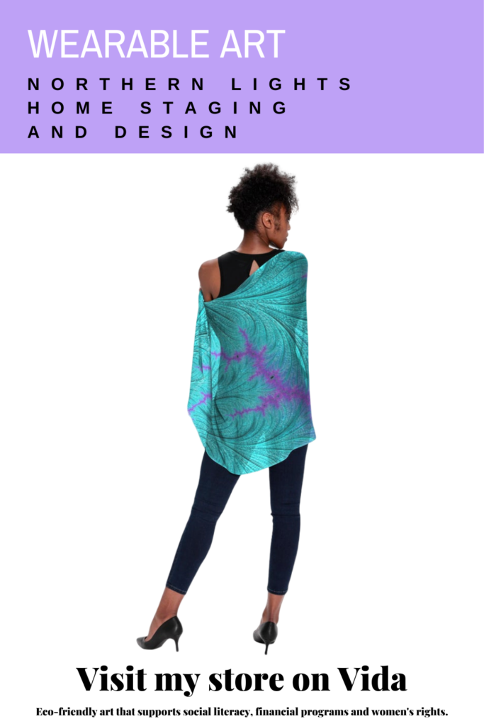 Wearable Art and Home Decor- Fractal Art by Northern Lights Home Staging and Design on VIDA.