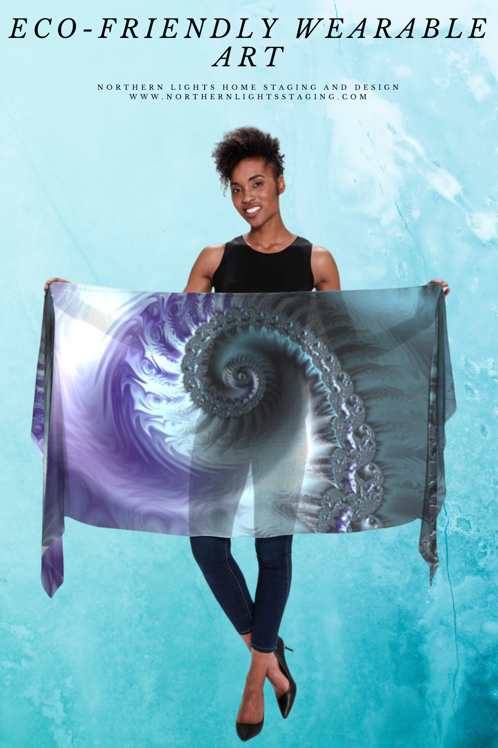 Look Great while Saving the Planet- Eco-friendly wearable fractal art.