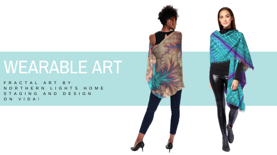 Wearable Art- Eco-friendly Fractal art fashions that support social programs by Northern Lights Home Staging and Design on VIDA.
