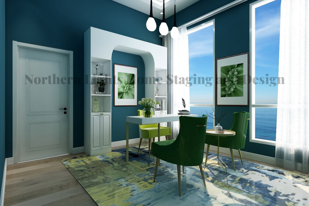 Virtual Office Background- Northern Lights Home Staging and Design