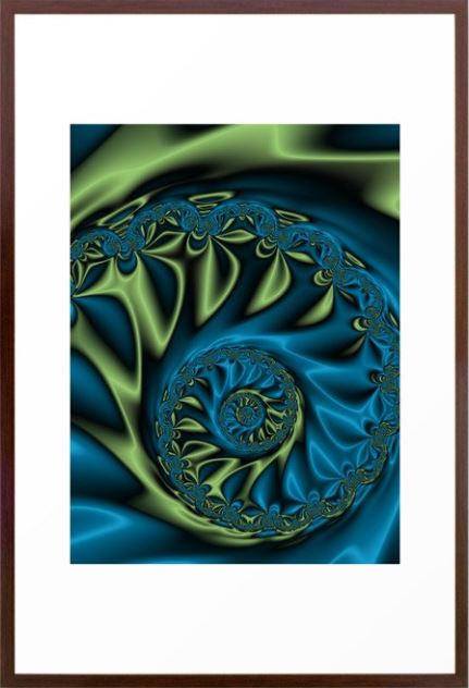 Bioluninescence #3 Framed Art Print. Fractal Art by Northern Lights Home Staging and Design at Society 6.