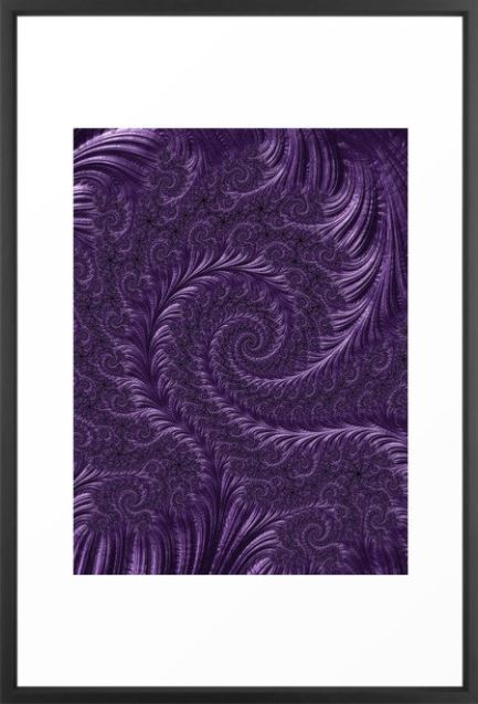 """Deep Purple"" custom Fractal Art by Northern Lights Home Staging and Design"