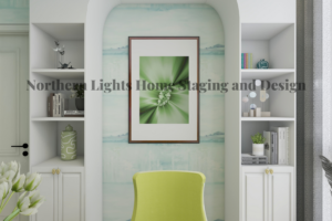 free virtual office zoom background by Northern Lights Home Staging and Design