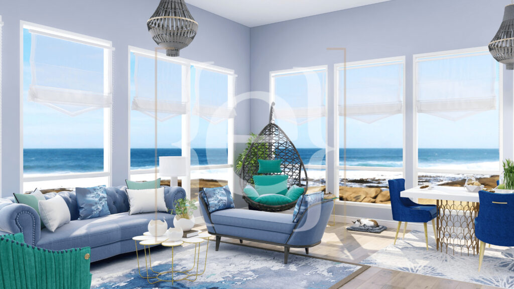 ZoomRoom Beach House by Northern Lights Home Staging and Design