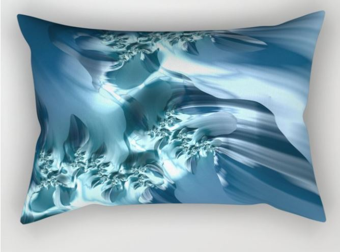 Sea 2 fractal art pillow by Northern Lights Home Staging and Design
