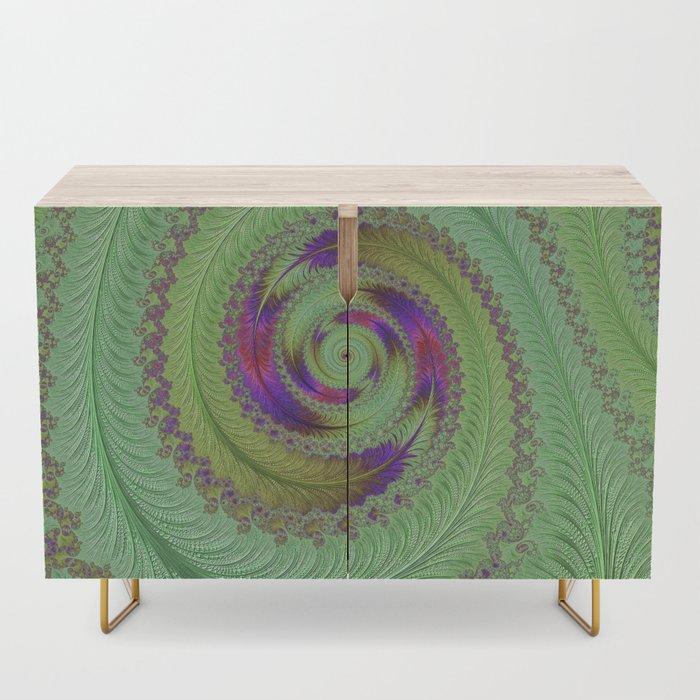 Chameleon Credenza. Fractal Art by NOrthern LIghts Home Staging and Design