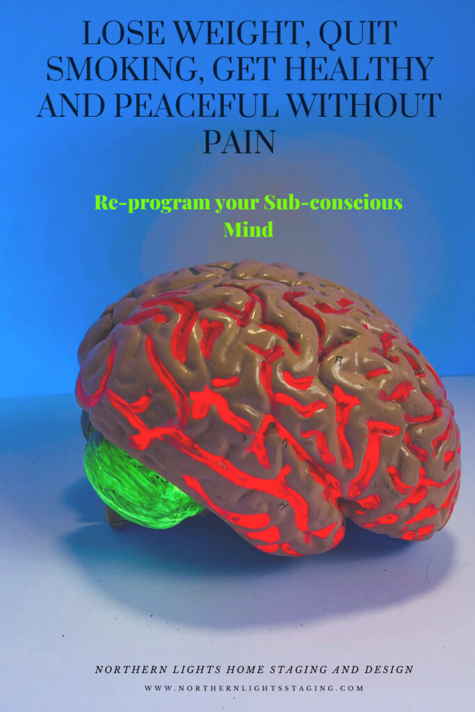 Re-program your subconscious mind.. Lose Weight, Quit Smoking, Get Healthy and Peaceful Without Pain
