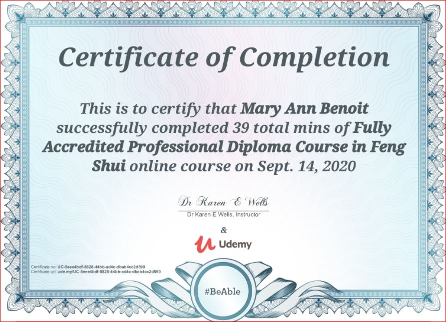 Accredited Feng Shui Professional
