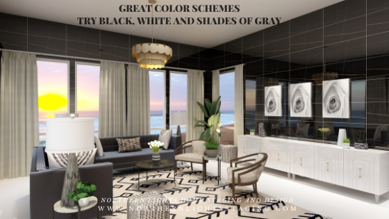 Great Paint Color Schemes- Black, White and Shades of Gray