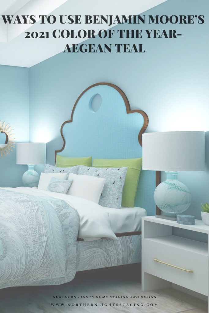 Ways to Use Benjamin Moore's 2021 Color of the Year Aegean Teal