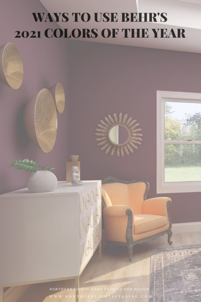 Ways to use Behr's 2021 Colors of the Year