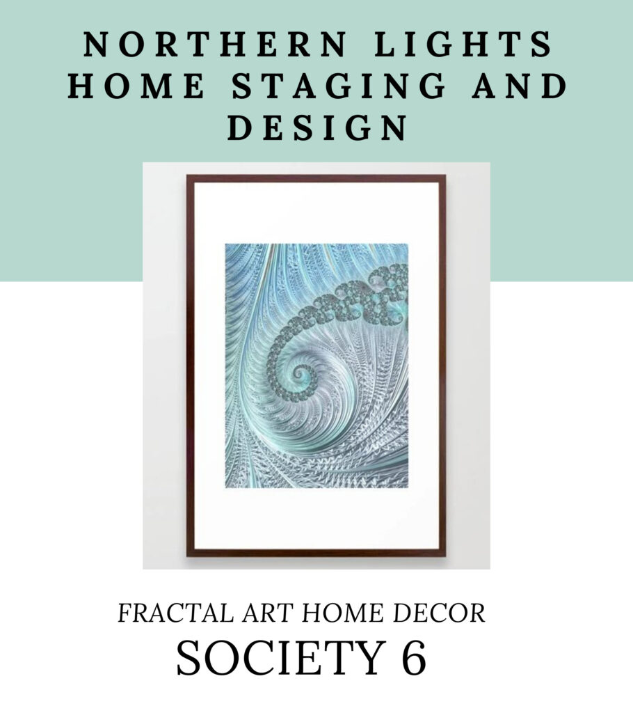 Fractal Art Home Decor by Northern Lights Home Staging and Design on Society 6