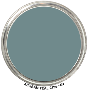 Benjamin Moore Aegean Teal- Graphic by Camp Chroma