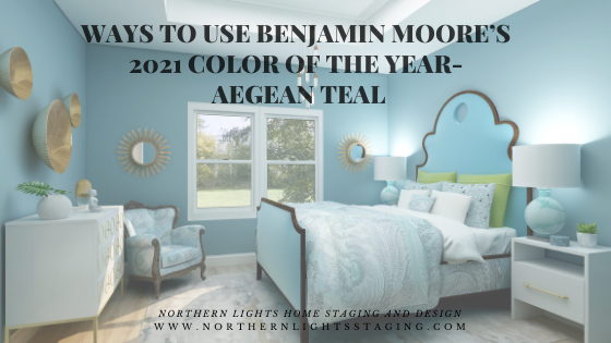 Ways to Use Benjamin Moore's 2021 Color of the Year- Aegean Teal