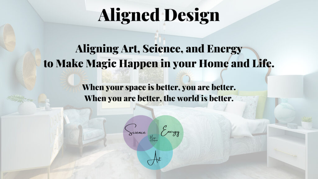 Home page of Northern Lights Home Staging and Design. Aligned Design is a unique and wholistic approach that aligns art, science and energy.