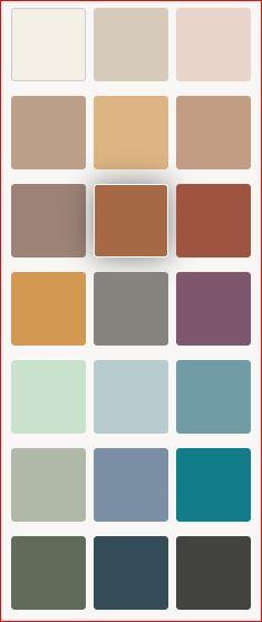 Behr 2021 color palette