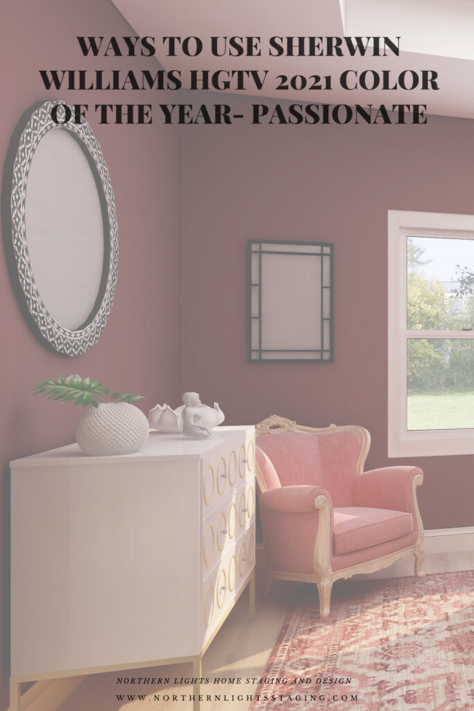 Ways to Use Sherwin Williams HGTV 2021 Color of the Year- Passionate